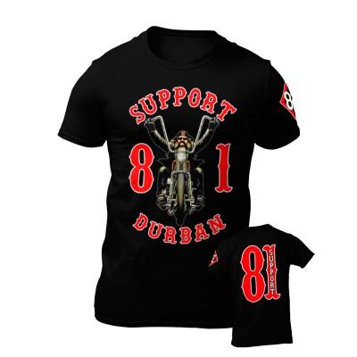 Hells Angels South Africa Durban Support 81 maglietta nero