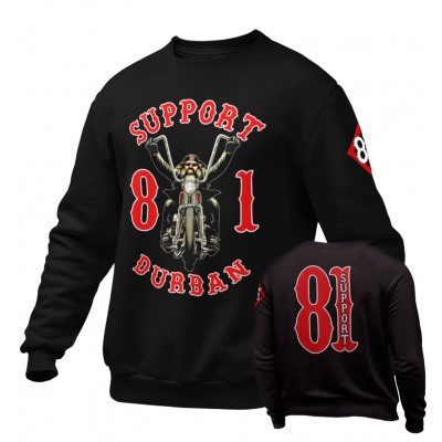 Hells Angels South Africa Durban Support 81 Sweatshirt schwarz