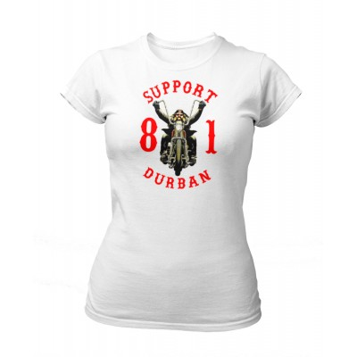 Hells Angels South Africa Durban Support 81 Camiseta mujer blanca