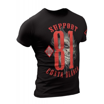 Hells Angels Support Eye Black T-Shirt Support81 Big Red Machine