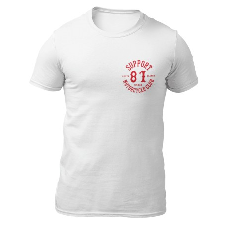 Hells Angels White T-Shirt Support81 Logo