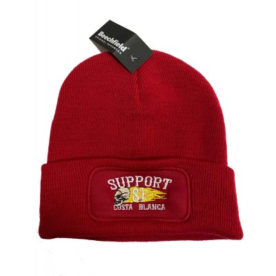Hells Angels Support 81 Biker Beanie rouge Big Red Machine embroided