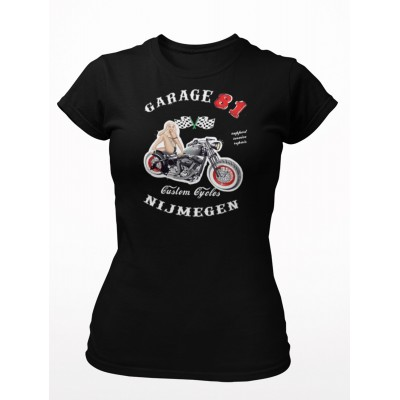 Hells Angels Nijmegen Holland Big Red Machine Support81 Ladies Pin Up Camiseta