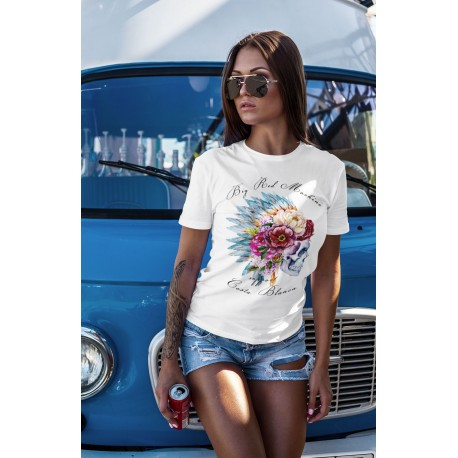 Hells Angels Support 81Flower Scull Ladies T-Shirt