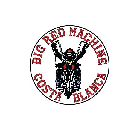 Hells Angels sticker Support 81 Big Red Machine Biker 9cm.