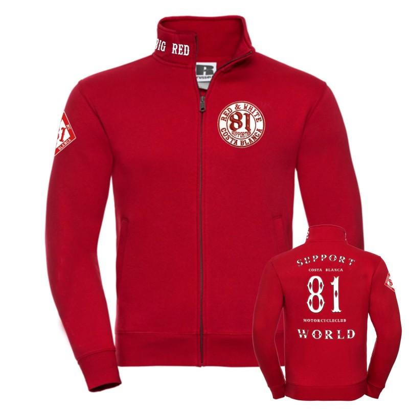 Hells Angels 81 RED Support81 Jacket Big Red Machine World 2