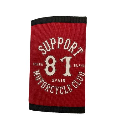 Hells Angels Support81 Wallet Red Costa Blanca