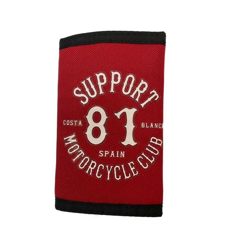 Hells Angels Support81 Wallet Red Costa Blanca