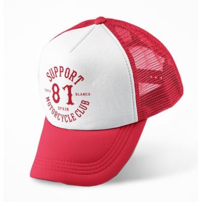Hells Angels Support81 baseball cap CB mesh gorra roja