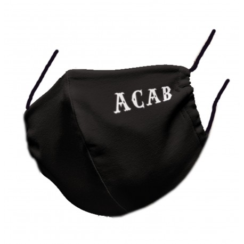 Hells Angels Support81 Face Mask 81 Black ACA B 100% organic