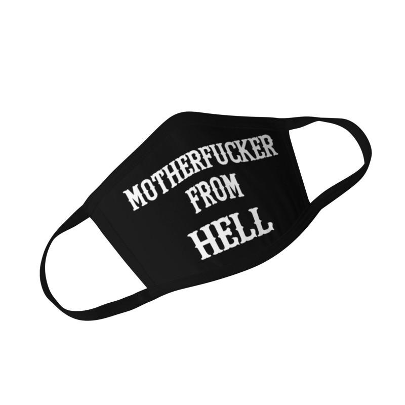 Hells Angels Support81 Face Mask Motherf*cker Black Fruit of the Loom