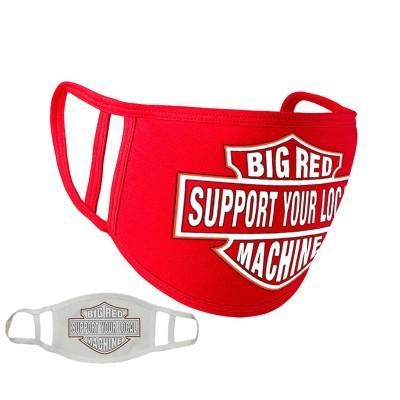 Hells Angels Support81 MASCHERINA RESPIRATORE PROTEZIONE Rosso 100% organic