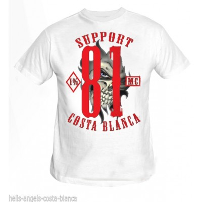 Hells Angels Support Eye White T-Shirt Support81 Big Red Machine