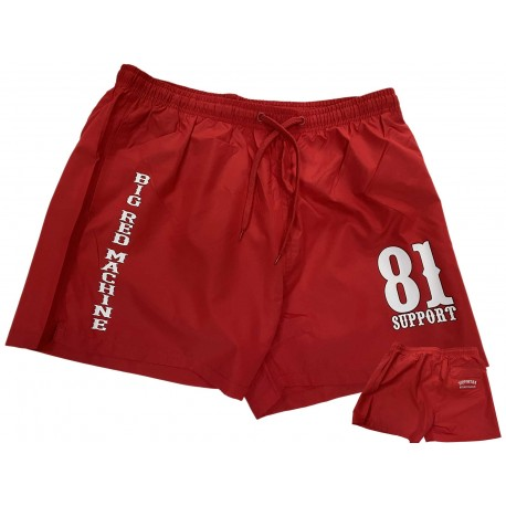 Support 81 Hells Angels shorts de bain Quick-Dry rouge