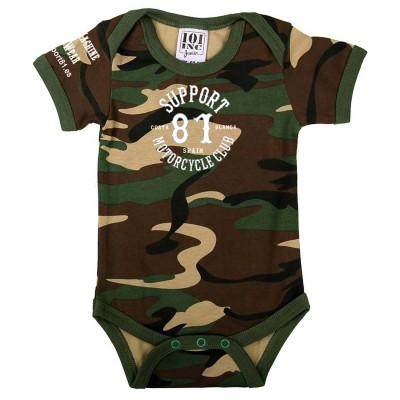 Baby Bodysuit Strampler Support 81 Camouflage 2 Costa Blanca Hells Angels