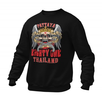Hells Angels Nomads Thailand Crown Scull Support81 sudadera negra