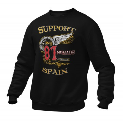 Hells Angels Nomads Softail Support81 sweater Big Red Machine Black