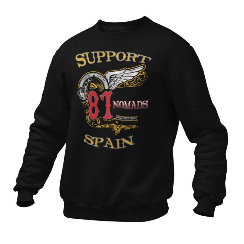 Hells Angels Nomads Softail Support81 sweater Big Red Machine Black