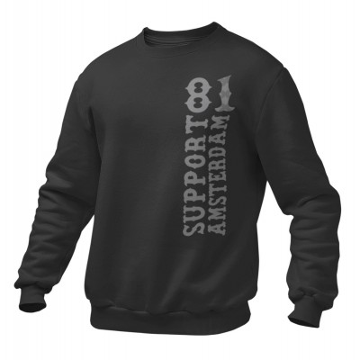 Hells Angels amsterdam Support81 sweater Big Red Machine Black