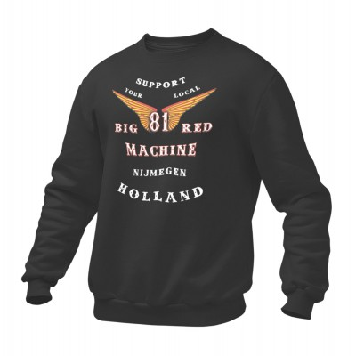 Hells Angels Nijmegen Holland Support81 sweater Big Red Machine Black