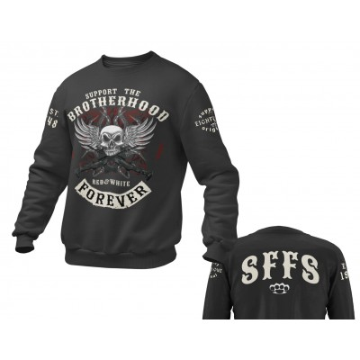 Hells Angels Brotherhood Support81 sweater Big Red Machine Black