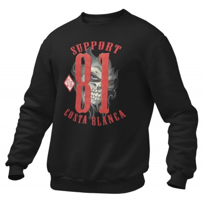 Hells Angels Eye Support81 sweater Big Red Machine Black