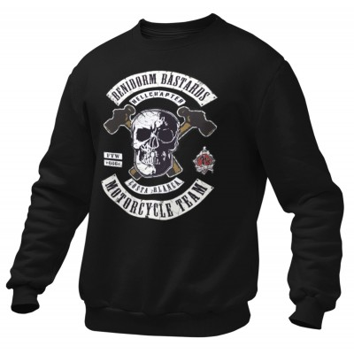 Hells Angels Benidorm Bastards Support81 sweater Big Red Machine Black