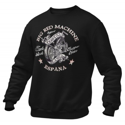 Hells Angels Chopper2 Support81 sweater Big Red Machine Black