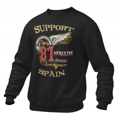 Hells Angels Nomads Spain Softail Support81 Black Sweater