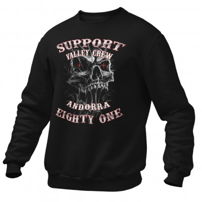 Hells Angels Andorra Slimey Skull Support81 Black Sweater