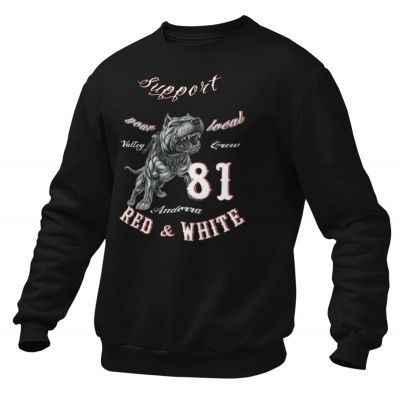Hells Angels Andorra PitBull Support81 Black Sweater