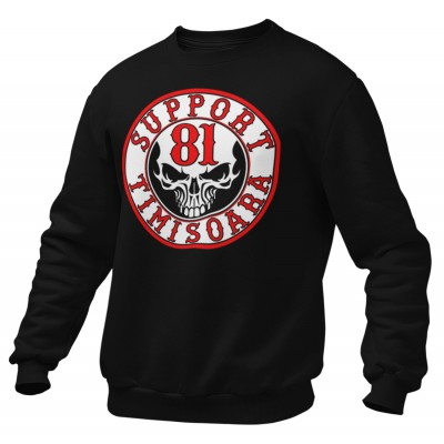 Hells Angels Timisoara Support81 SCULL Black Sweater