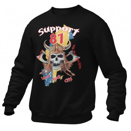 Hells Angels West Rock City Warrior Support81 Black Sweater