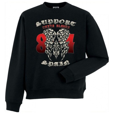 HELLS ANGELS ORNATE SUPPORT81 SWEATER BIG RED MACHINE