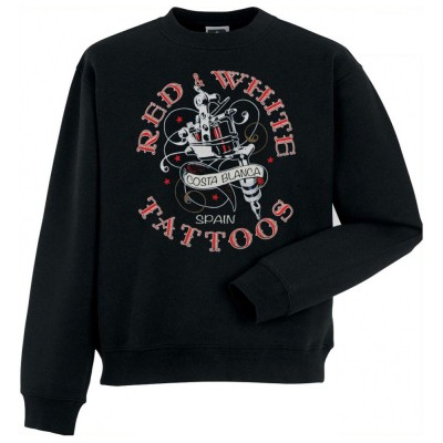 HELLS ANGELS RED WHITE TATTOO SUPPORT81 SWEATER BIG RED MACHINE