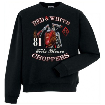 Hells Angels Sinner Support81 sweater Big Red Machine Black