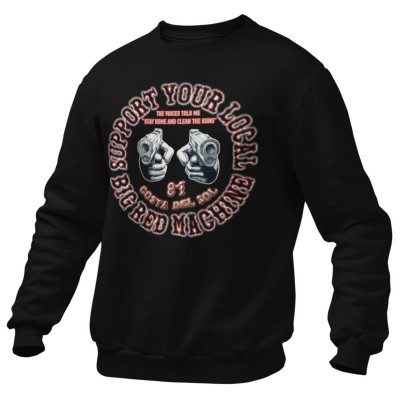 Hells Angels Guns Support81 Costa del Sol Sweater Big Red Machine Black