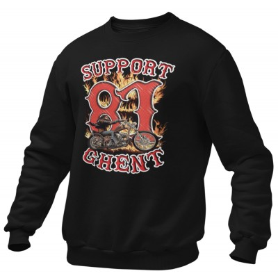 Hells Angels Ghent Belgium David man Support81 Black Sweater