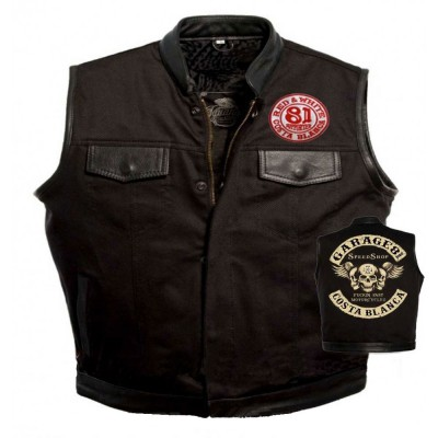 Hells Angels Support81 Denim - Leather Vest Garage 81