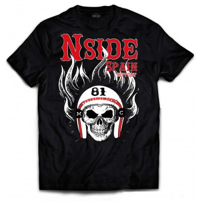 Hells Angels NorthSide Spain black T-Shirt model 6 Front printed