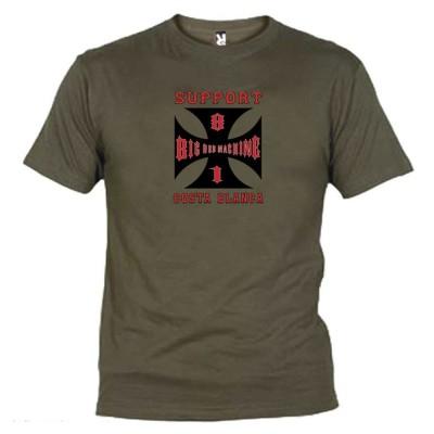 Hells Angels Cross Costa Blanca Grünt T-Shirt Support81 Big Red