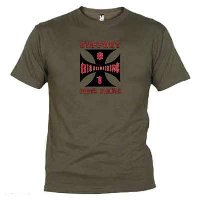 Hells Angels Cross Costa Blanca Verde T-Shirt Support81 Big Red Machine