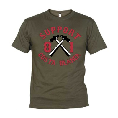 Hells Angels Hammer Green T-Shirt Support81 Big Red Machine