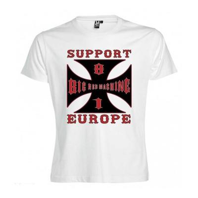 Hells Angels Cross Europe Weiss T-Shirt Support81 Big Red Machine 1%