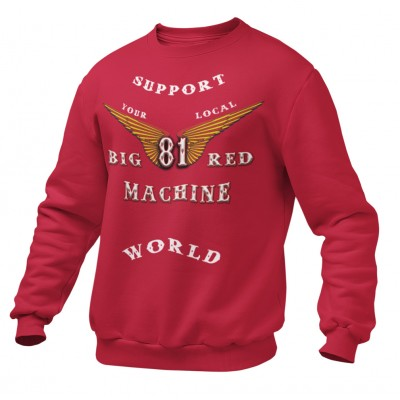 Hells Angels Anniversary Support81 Sweater Big Red Machine