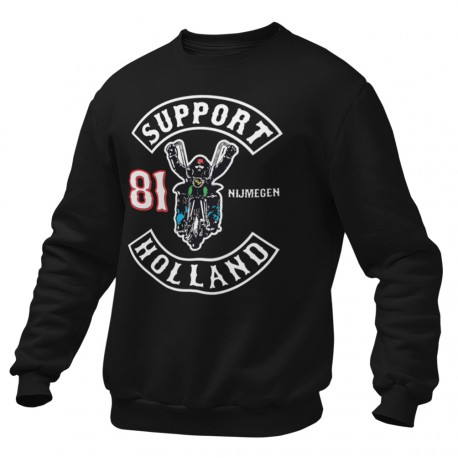 Hells Angels Anniversary Support81 Sweater Big Red Machine Black