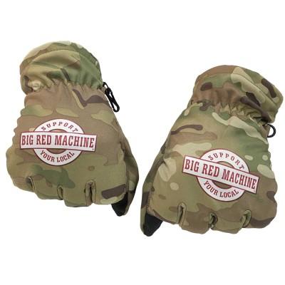 Hells Angels Support81 Big Red Machine Gloves (Neopren/Nylon) Camouflage Guanti