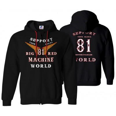 Hells Angels Anniversary Hoodie World