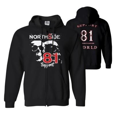 Hells Angels NorthSide Spain Felpa hoodie model 1 Front + Back side printed