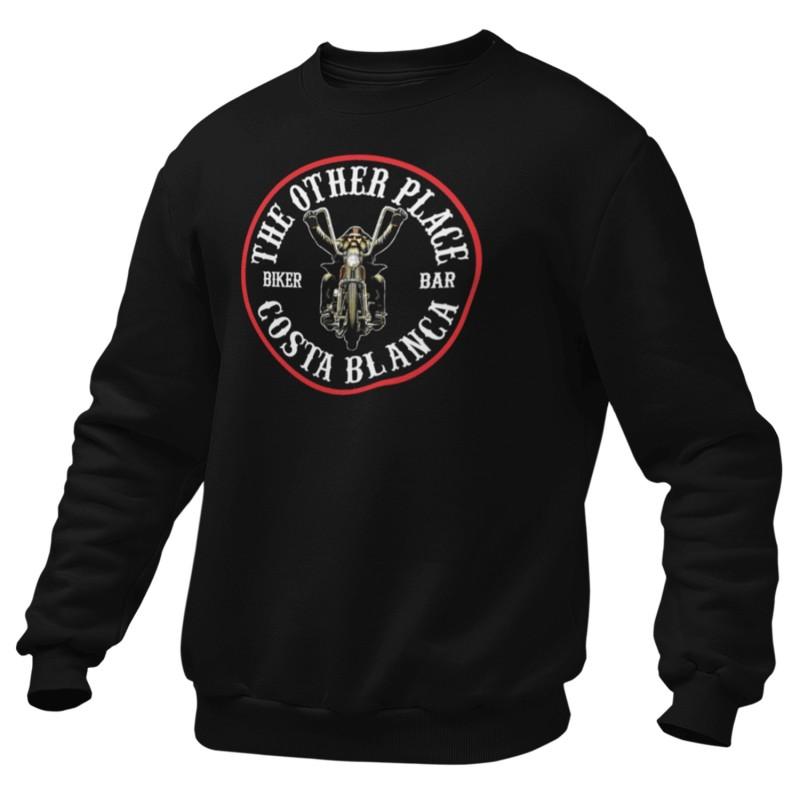 Biker Support81 Costa del Sol Sweater Big Red Machine Black